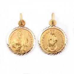Medalla Virgen Puy. San Andrés. Oro 18kt.
