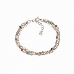 Pulsera Lollipop multicolors, plata