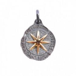 Colgante estrella pequeño plata oro 18 k