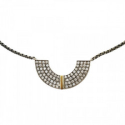 Collar plata oro 9k zirconitas