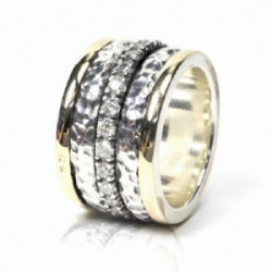 Alianza Styliano plata oro zirconitas