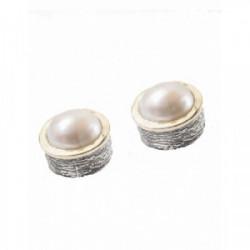Pendientes Styliano plata, oro y  perlas