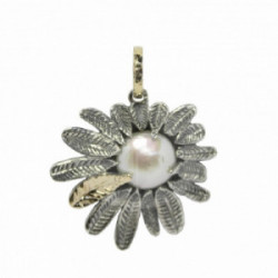 Colgante Styliano, plata oro perla
