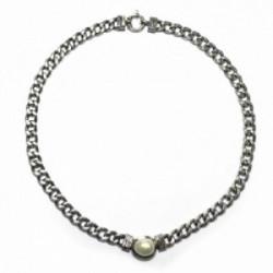 Collar Styliano, plata oro perla